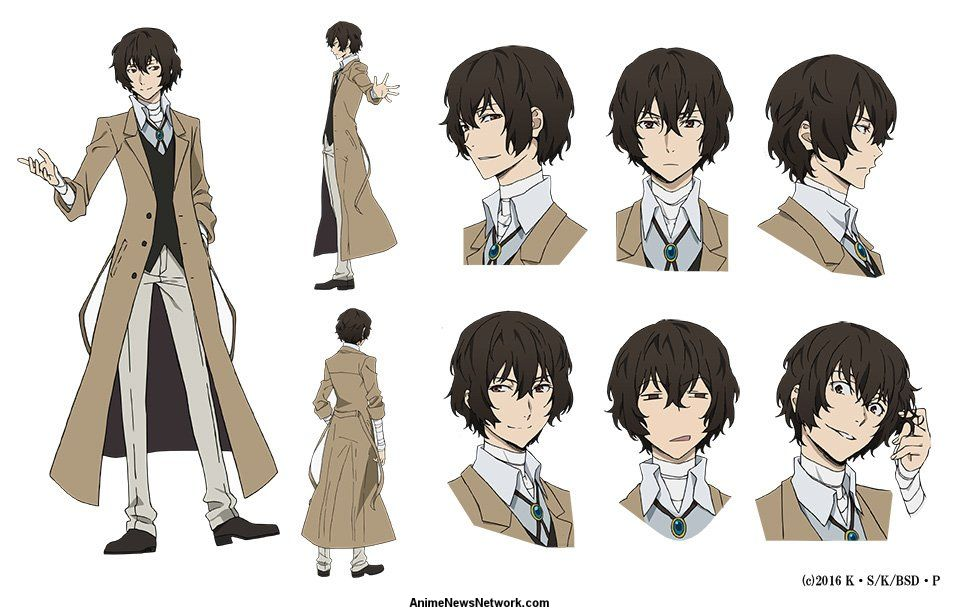 bungō stray dogs anime s character design sheets unveiled news